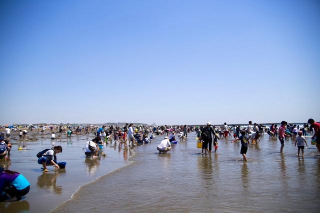 茨城県 無料潮干狩りポイント ハマグリを大量にゲットしよう!潮見表あり♪